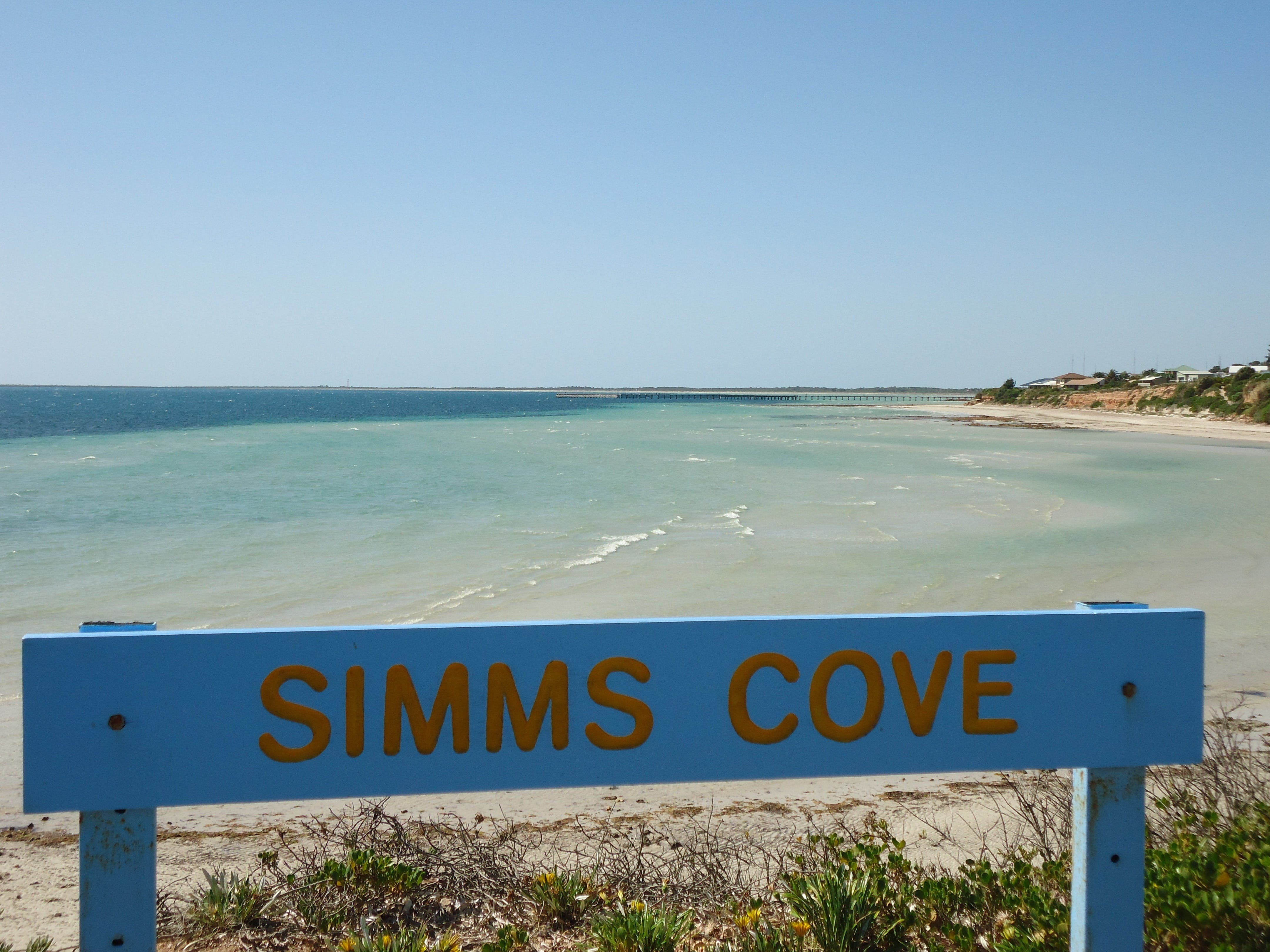Simms Cove lookout and beach Moonta Bay - South Australia Travel