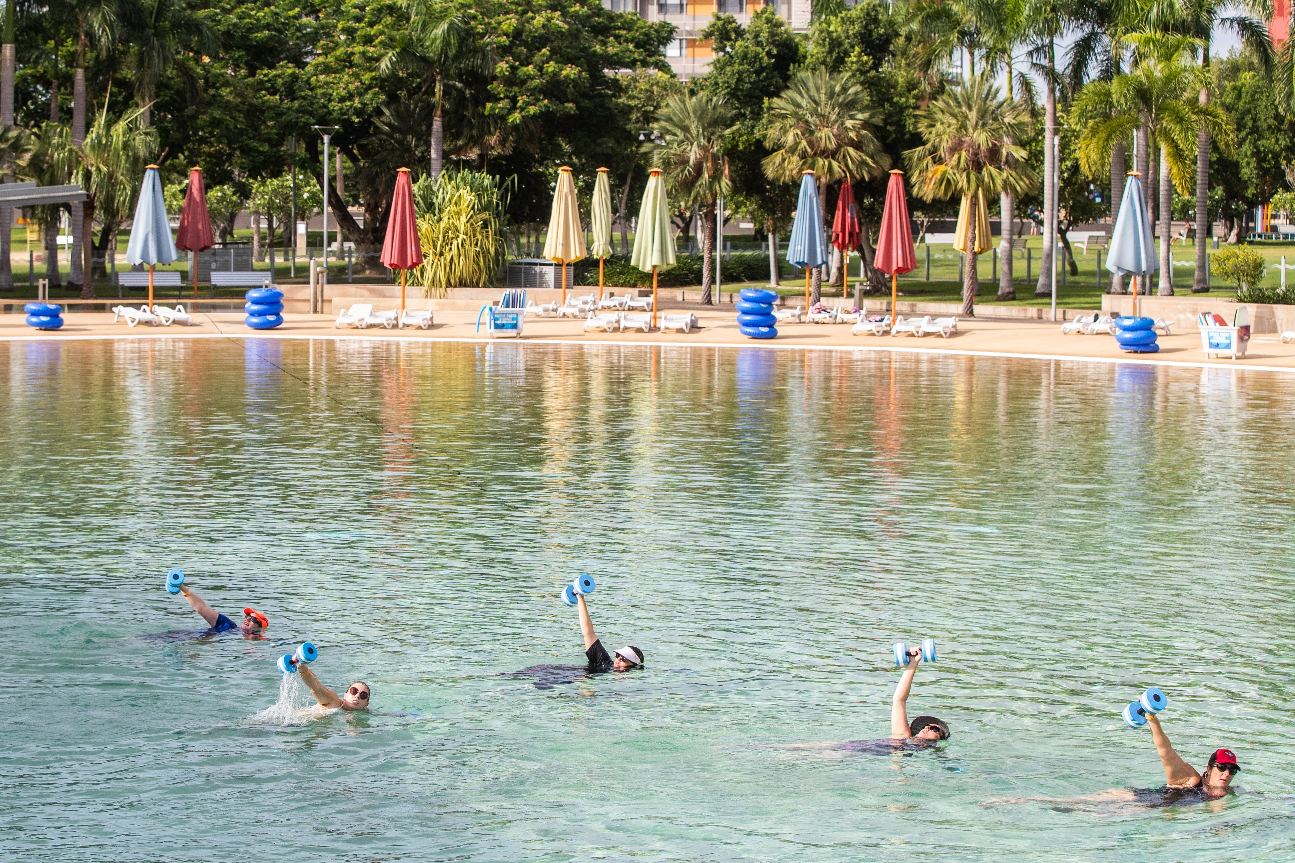 Aqua fitness in the Wave Lagoon - South Australia Travel
